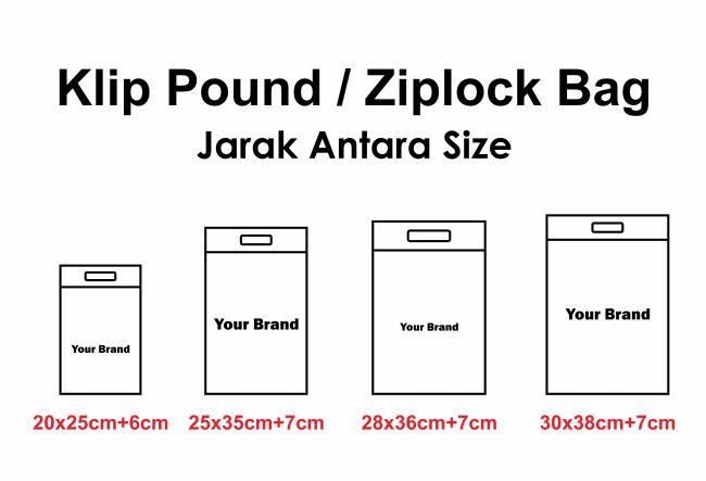 Plastik Klip Pond Persegi/ Ziplock Bag